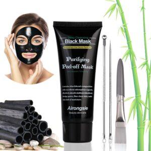Black Mask, Peel off Maske, Charcoal Maske, Blackhead Maske, Mitesser Entfernung Maske, Schwarze Gesichtsmaske für Nase und Gesicht, Schmerzfrei und Einfach zu Entfernen, 100ml
